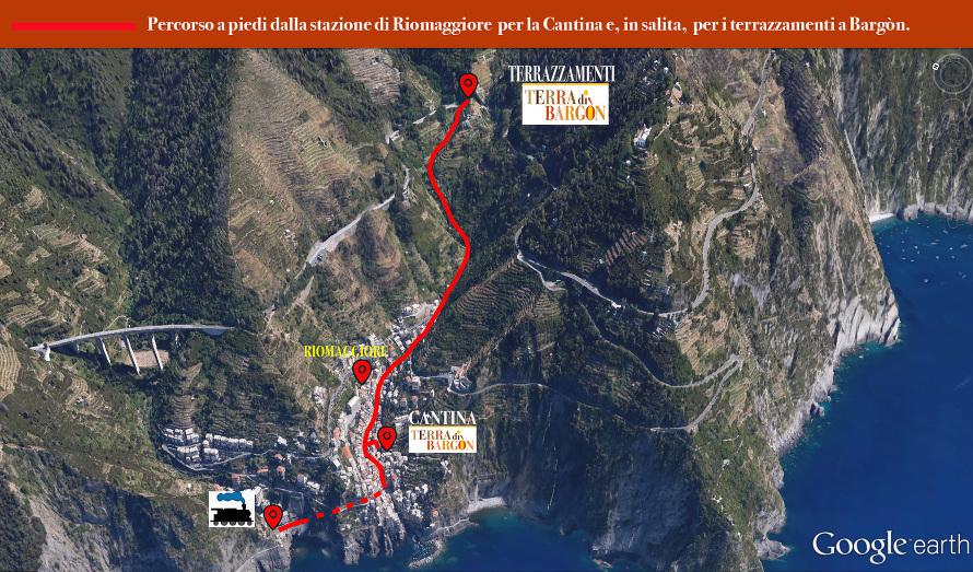 percorso a piedi italiano
